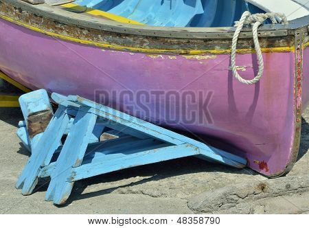 Traditional italian fishing boat