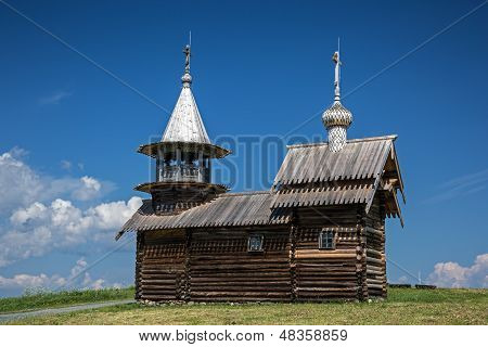 Archangel Michael wooden chapel on Kizhi island