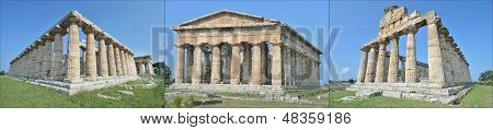Three ancient temples at Paestum