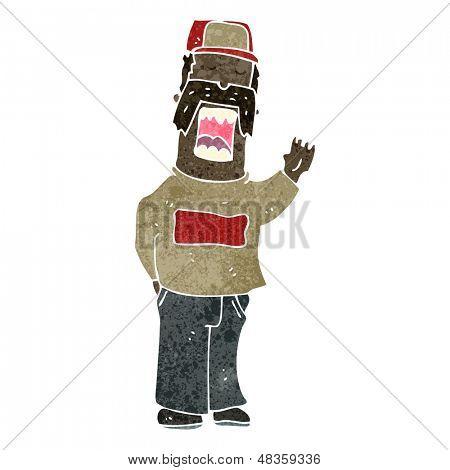retro cartoon mechanic guy