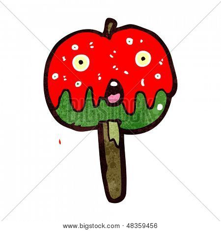 retro cartoon toffee apple