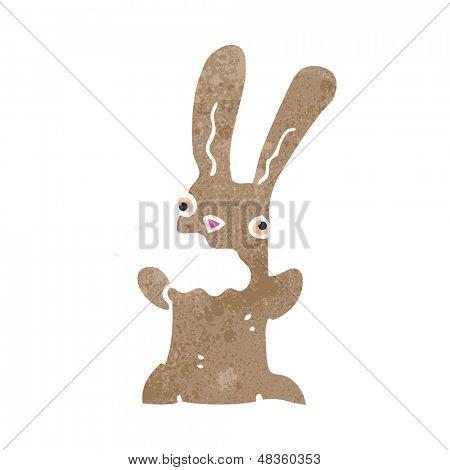 retro cartoon burping rabbit