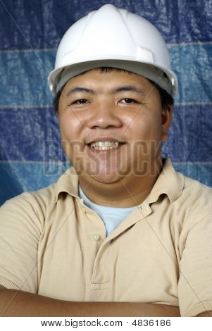Happy Asian Engineer Smiling