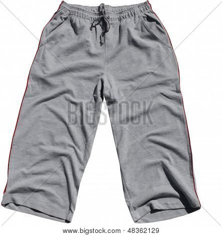 Grey Shorts isolated on white