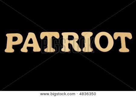 Wooden Word Patriot