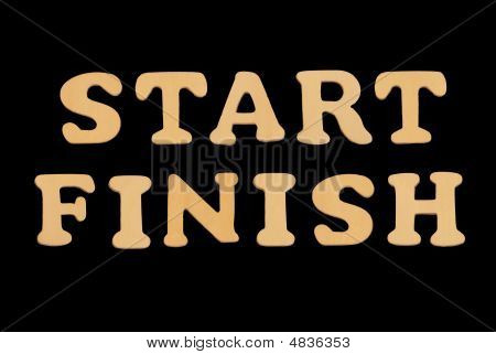 Wooden Word Start-finish