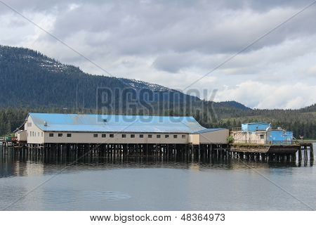 Salmon Cannery at Petersburg Alaska