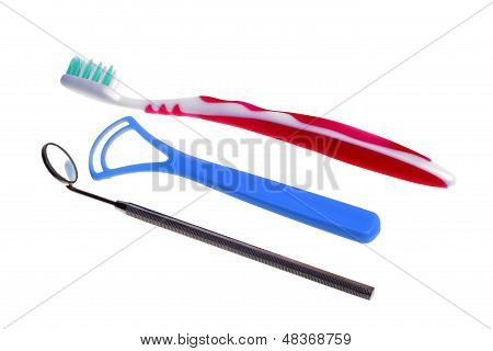 Toothbrush Medical Mirror With Reflection