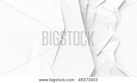 White Abstract Geometric Background With Sharp Polygon Surface