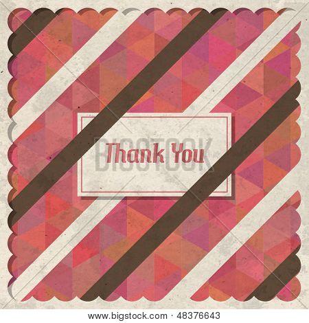 Vintage Retro Thank You Card