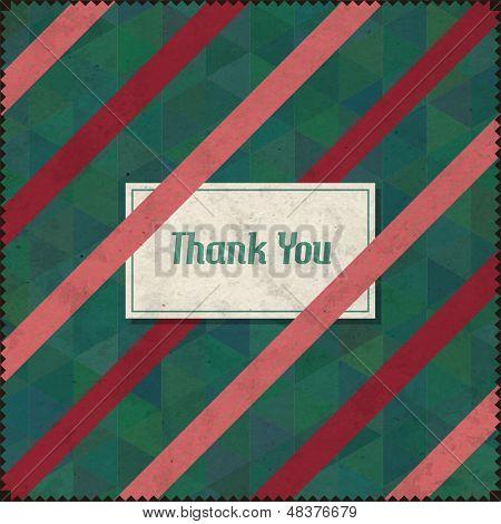 Stylish Thank You Vintage Card