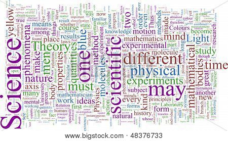Word Cloud based around the Writings of James Maxwell Clerk
