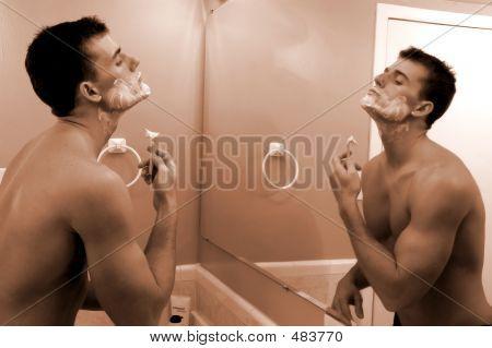 Shaving Sepia