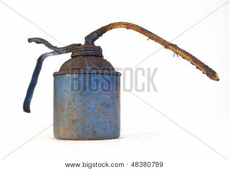 Grimy Blue Oil Can