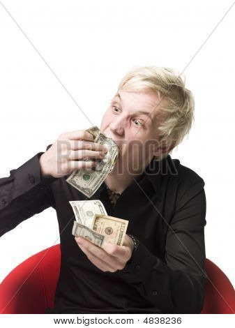 Man Eating Money