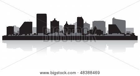 Atlantic City Skyline Silhouette