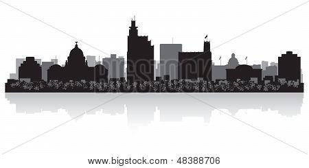Jackson City Skyline Silhouette