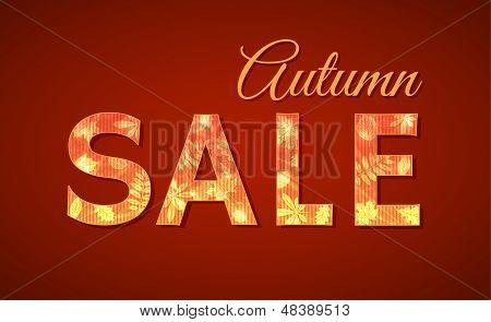 Sale sign for autumn season