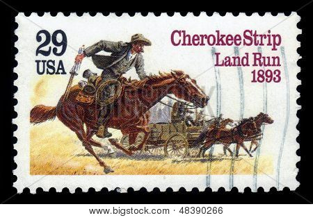 Homesteaders Racing To Cherokee Strip