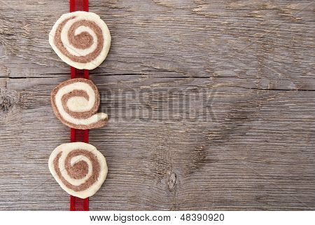 Cookies On A Red Ribbon