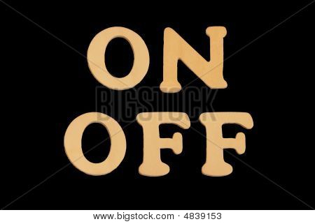 Wooden Word Onoff