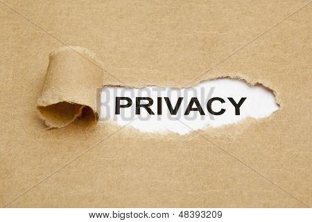 Concepto de privacidad