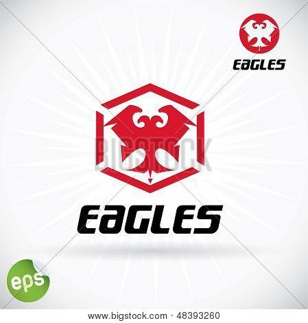 Eagle Symbol Illustration With Sticker