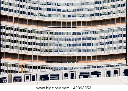 United Nations Building Close Up Vienna