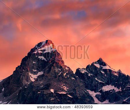 Tetons At Sunrise