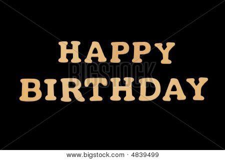 Wooden Word Happy Birthday