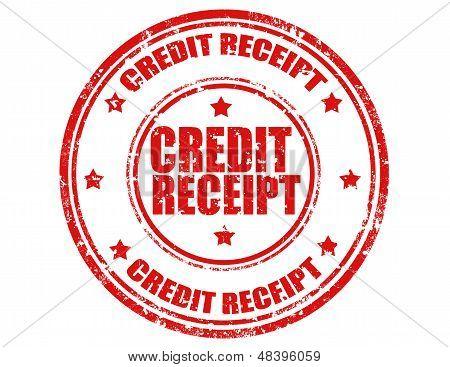 Credit Receipt-stamp