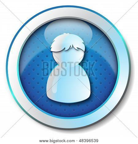 Profile user man icon