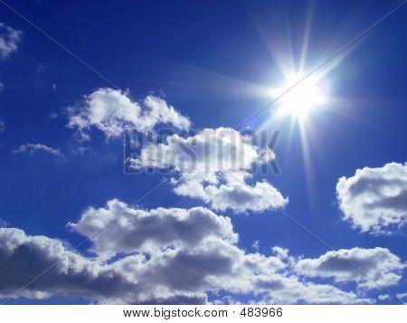 Céu e um sol