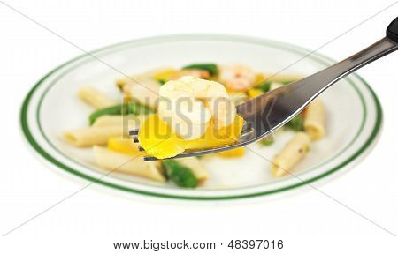 Shrimp With Zucchini And Pasta