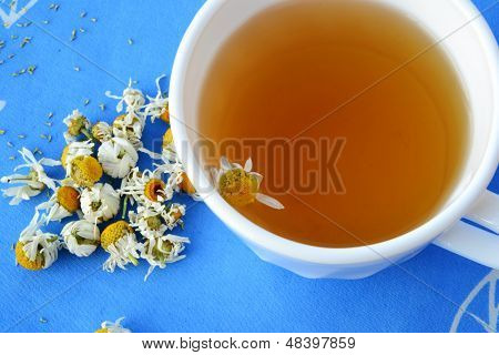 Chamonile Tea And Dried Flowers
