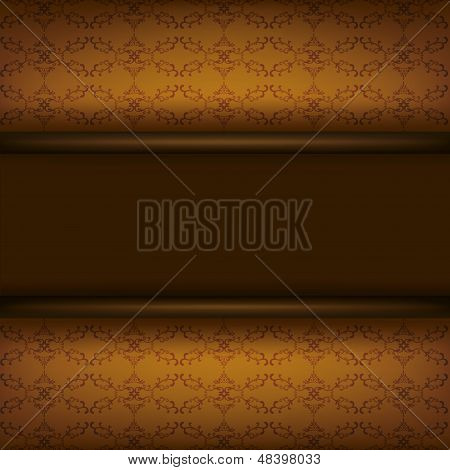 Vintage Ornamental Brown Background With Board