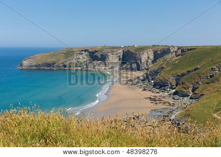 Trebarwith Strand beach Cornwall near Tintagel England UK