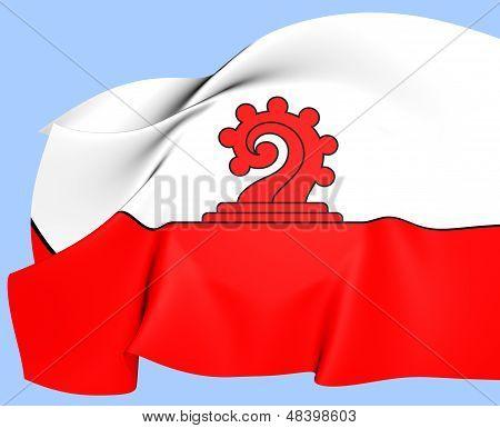 Flag Of Liestal, Switzerland.