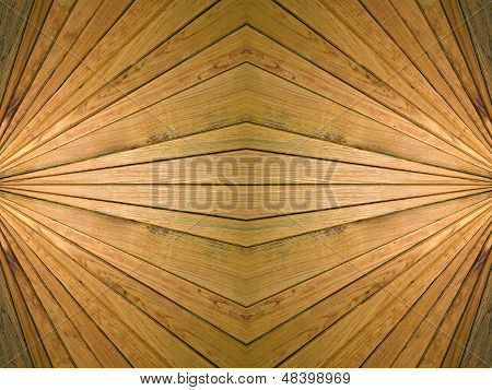 Wooden Symmetrical Background.