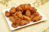 Asabe zeinab or Zeinabs fingers on a plate. This  Middle Eastern sweet treat made of a semolina yeas
