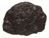 Coal Lump Carbon Nugget Isolated On White