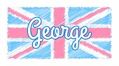 Baby UK flag poster