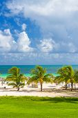 Tropical resort at the beach of Coco Key (Cayo Coco) in Cuba