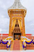 picture of crematory  - Detail of Thai Crematory In Bangkok - JPG