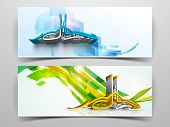 stock photo of ramazan mubarak card  - Website header or banner set with arabic Islamic calligraphy of text Eid Mubarak - JPG