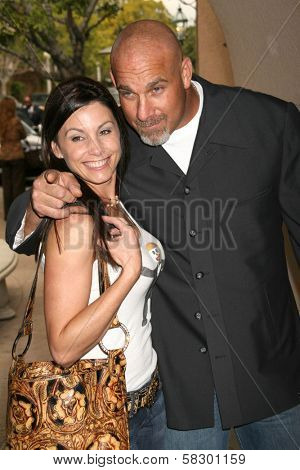 Bill Goldberg and wife Wanda at the 2007 TCA Winter Press Tour. Ritz Carlton Huntington Hotel, Pasadena, CA. 01-11-07