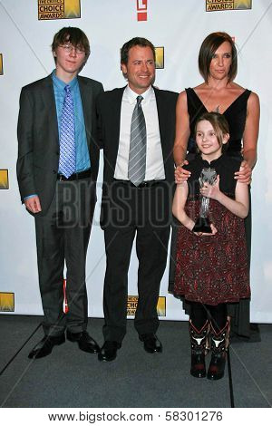 Paul Dano and Greg Kinnear with Abigail Breslin and Toni Collette in the press room at the 12th Annual Critics' Choice Awards. Santa Monica Civic Auditorium, Santa Monica, CA. 01-12-07
