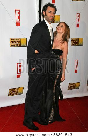 Sacha Baron Cohen and Isla Fisher at the 12th Annual Critics' Choice Awards. Santa Monica Civic Auditorium, Santa Monica, CA. 01-12-07