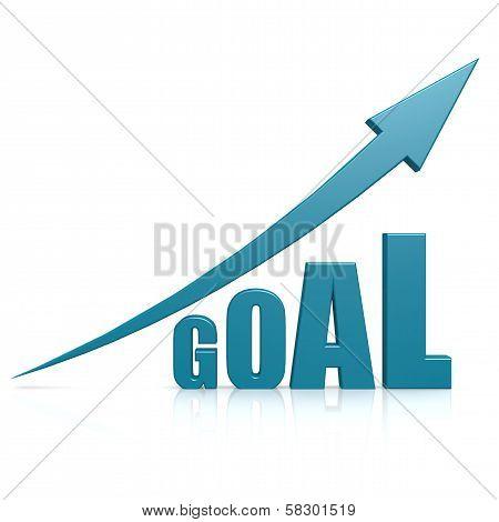 Goal blue arrow