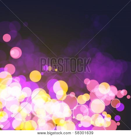 Lights on festive cosmos bokeh background